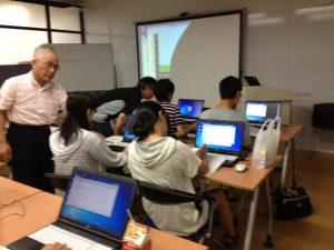 三鷹で実施している「夏休みRubyプログラミング講座(高校生コース)」を見学してきた